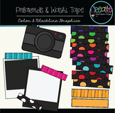 Polaroids & Washi Tapes Set #2 - Digital Clipart