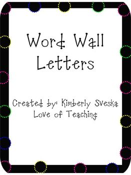 Polda Dot Word Wall Letter Posters