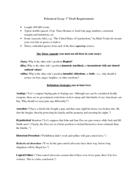 Polemical Essay