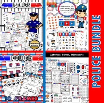 Police Classroom Center Activity Bundle
