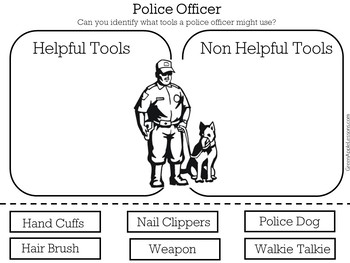 Police Activity | Police Officer Printable | Police Officer Worksheet