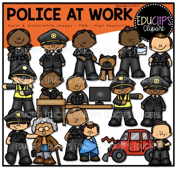 Police At Work Clip Art Bundle {Educlips Clipart}