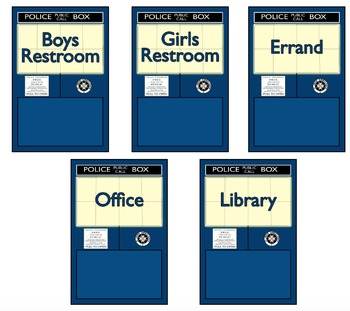 Police Box Hall Pass Set
