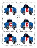 Police Car Capital Alphabet Flashcards