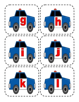 Police Car Lowercase Flashcards