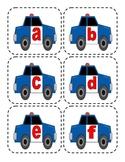 Police Car Lowercase Flashcards