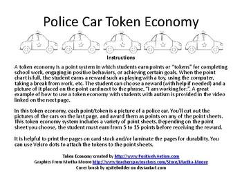 Police Car Themed Token Economy
