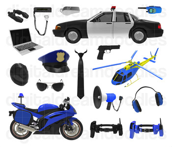 Police Clip Art - Cop Digital Graphics