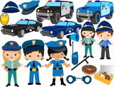 Police Clip Art - toy car cars baby, police man policeman badge heroes cop-051-