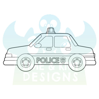 Police Cops and Robbers Digital Stamps | Instant Download Vector Art