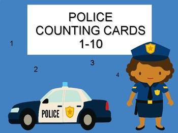 Police  Counting Flash Cards
