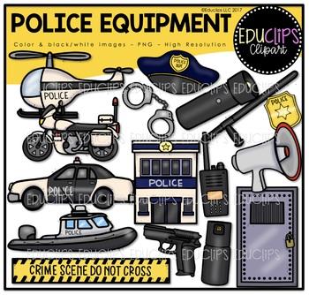 Police Equipment Clip Art Bundle {Educlips Clipart}