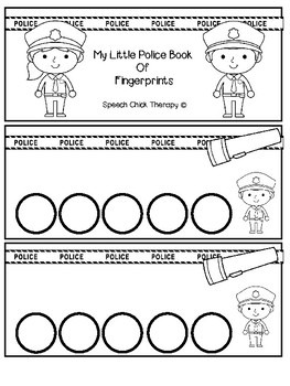 Police Fingerprint Articulation Books for Speech Therapy