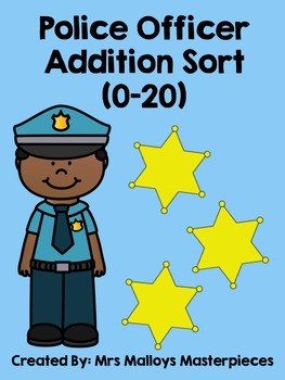Police Officer Addition Sort (0-20)