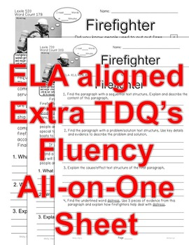 Careers: Police Officer & Firefighter FACTS Main Idea Close Read 5 levels InfoTx