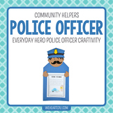 Police Officer Hero {A September 11/ Community Helper Hero Craftivity}