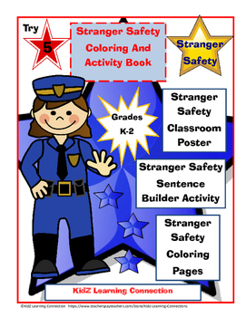 Stranger Safety Coloring and Activity Book by KidZ ...