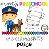 Police Officer Prewriting Skills