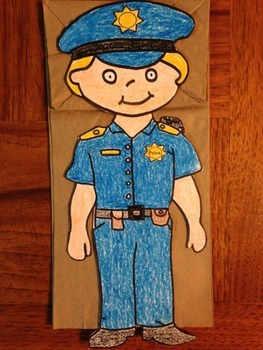 Police Officer Puppets Male and Female