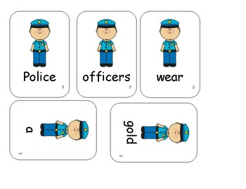 Police Officer Sentence Scramble