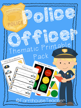 Police Officer Thematic Printable Pack