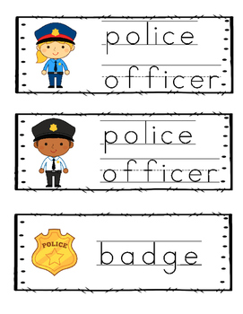 Police Officer Word Wall {Dollar Deal}