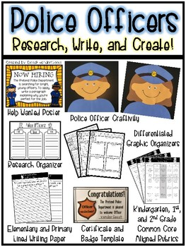 Police Officers: Research, Write, and Create!