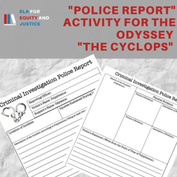 Police Report Activity - The Odyssey - The Cyclops