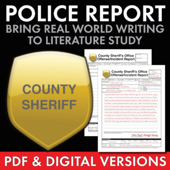 Police Report – Fun, Creative Real-World Writing Task to Use with ANY  Literature