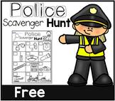 Police Scavenger Hunt- Community Helpers