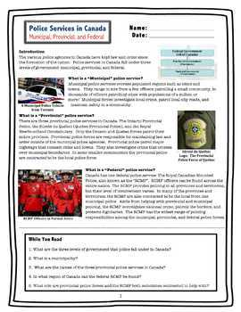 Police Services in Canada // Municipal, Provincial, Federal