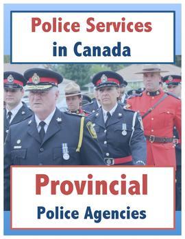 Police Services in Canada // Provincial Police Agencies