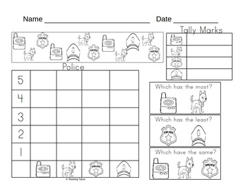 Police Worksheets Activities Games Printables and More