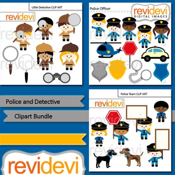 Police and Detective clip art bundle (3 packs)