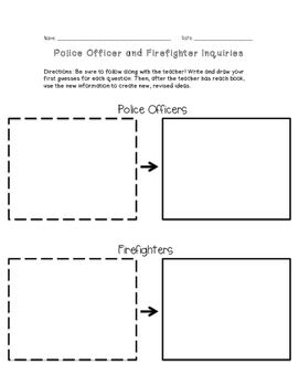 Police and Fire Fighter Inquiry Worksheet