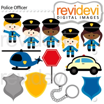 Police clip art - kids in police officer costumes clipart