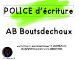 Police d'écriture - AB Bouts de choux