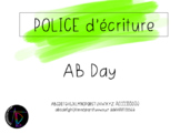 Police d'écriture - AB Day