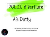 Police d'écriture - AB Dotty
