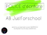 Police d'écriture - AB Justforschool