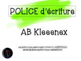 Police d'écriture - AB Kleeenex