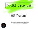 Police d'écriture - AB Monday