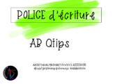 Police d'écriture - AB Qtips
