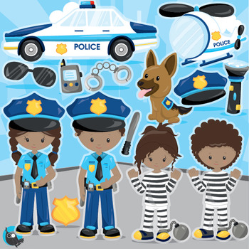 Policeman clipart commercial use, vector graphics, digital  - CL1013