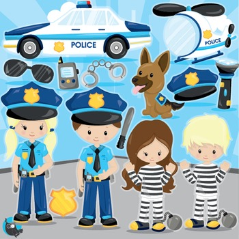 Policeman clipart commercial use, vector graphics, digital, fireman - CL964