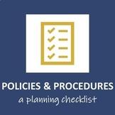 Policies & Procedures Brainstorming Checklist