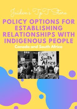 Policy Options for Establishing Relationships with Indigenous People