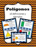 Polígonos- 16 definiciones y ejemplos- Spanish Math Word Wall
