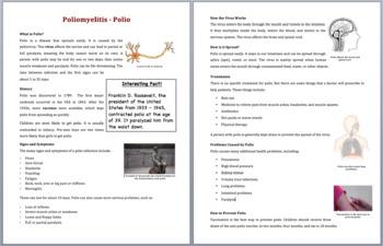 Polio - Science Reading Article - Grades 5-7