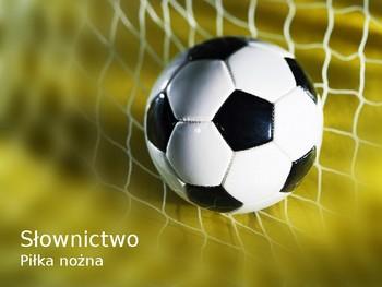 Polish as a foreign language. Słownictwo. Piłka nożna.